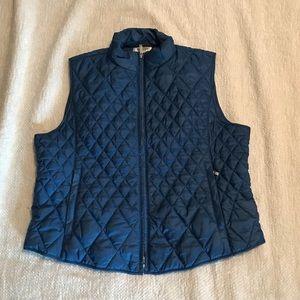 Talbots puffer vest.  Size Large Petite.
